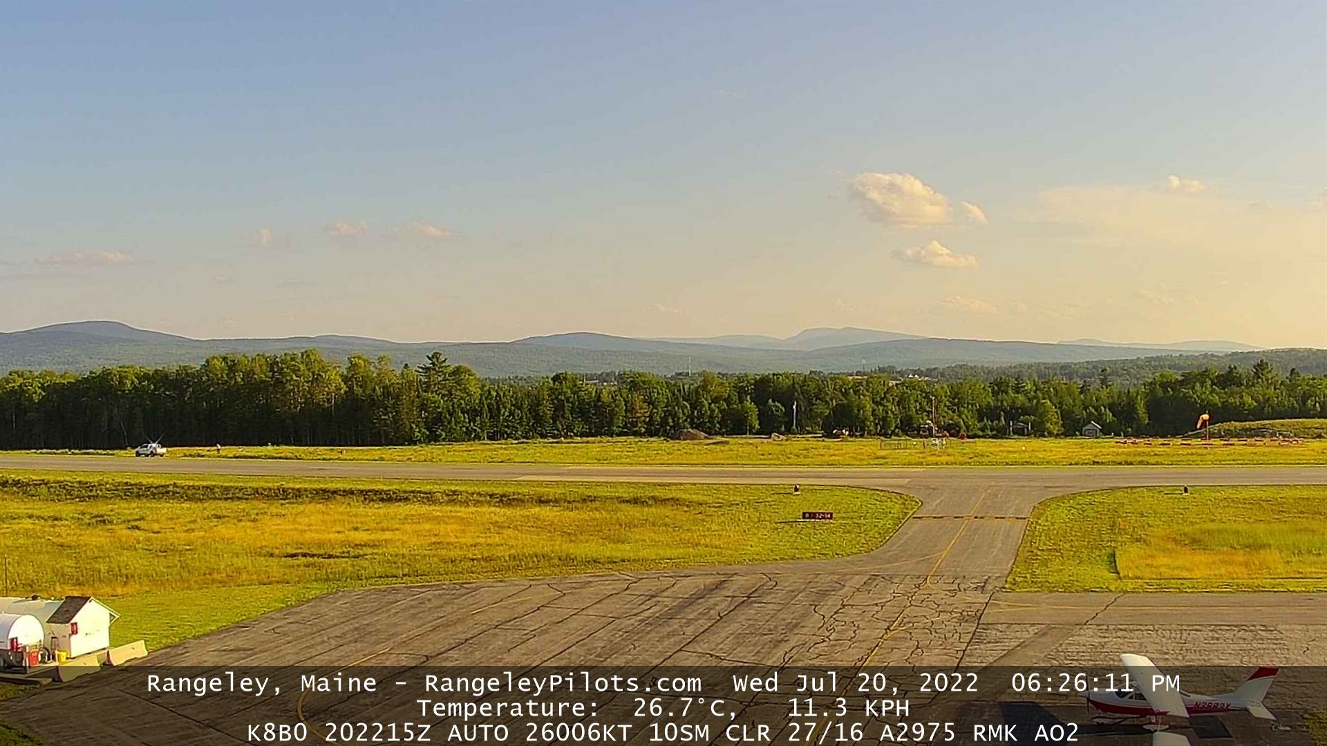 Rangeley Airport webcam